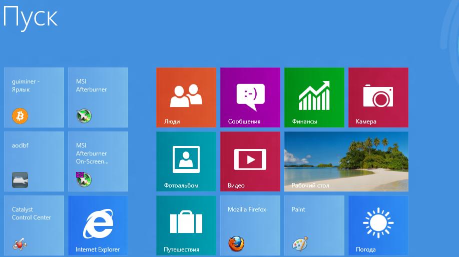 Опыт майнинга на Windows 8