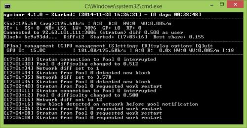 sgminer mod -k x11mod -I 18 -g 2 -w 256 --thread-concurrency 8192 --lookup-gap 2 --vectors 1.png