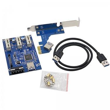 Высокое-Качество-VER005-1-PCI-E-для-3-КОНЦЕНТРАТОР-PCI-E-1X-Слот-font-b-Riser.jpg
