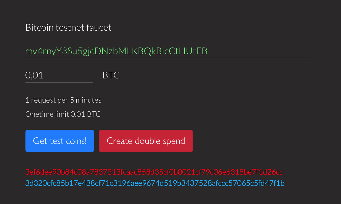 bitcoin testnet faucet
