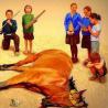 Дети хоронят коня